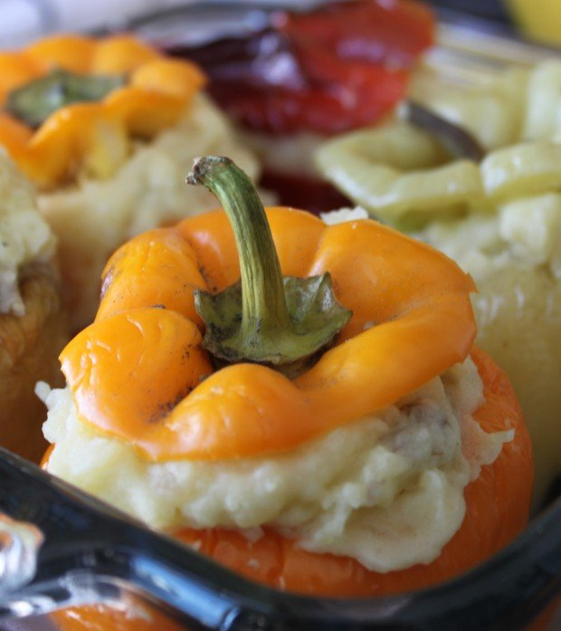 Mashed Potato Stuffed Bell Peppers