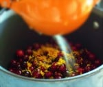 Homemade Cranberry Sauce with Ginger, Orange Zest