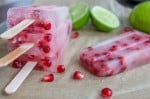 Pomegranate and Limeade Popsicle