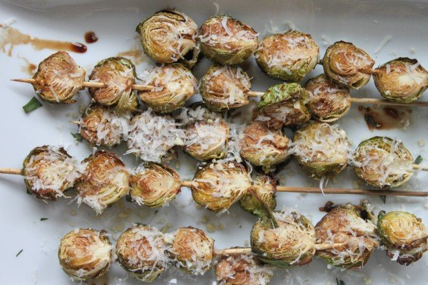 Roasted Brussels Sprouts with Balsamic Glaze and Pine Nuts