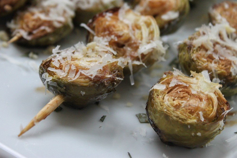 Balsamic-Glazed Brussels Sprouts with Crushed Pine Nuts and Parmesan ...