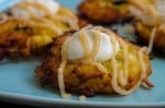 Apple Latke Bourbon Caramel Sour Cream