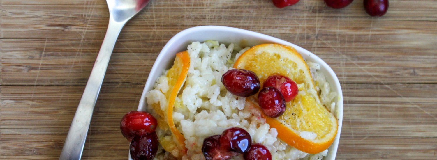 Easy Baked Risotto with Orange and Vanilla Bean - Jerry James Stone