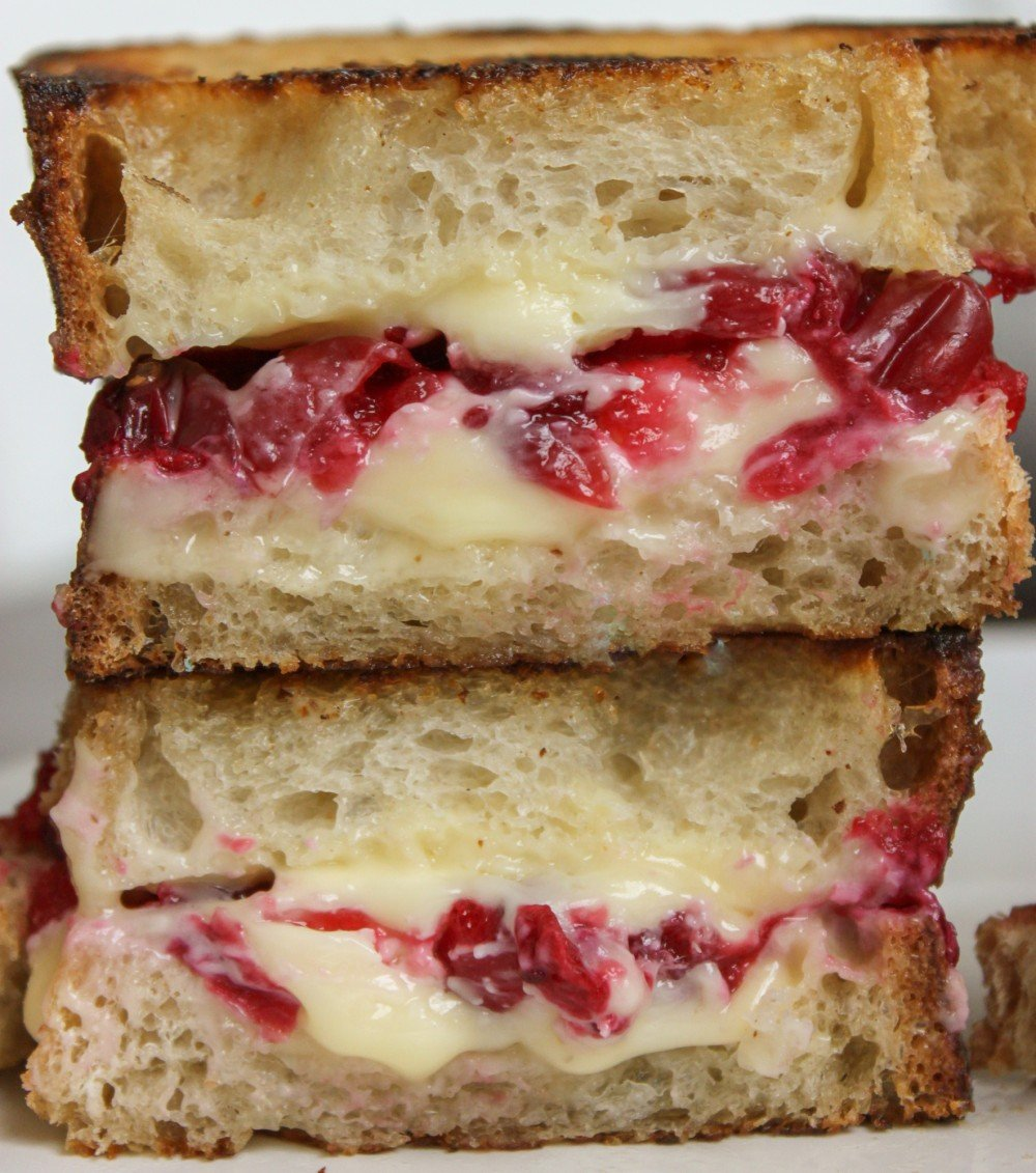 Roasted Cranberry & Brie Grilled Cheese - Jerry James Stone