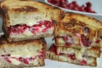 Cranberry & Brie Grilled Cheese Sandwich