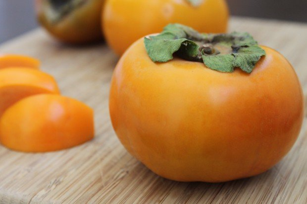 Cut Fuyu Persimmons for Salad