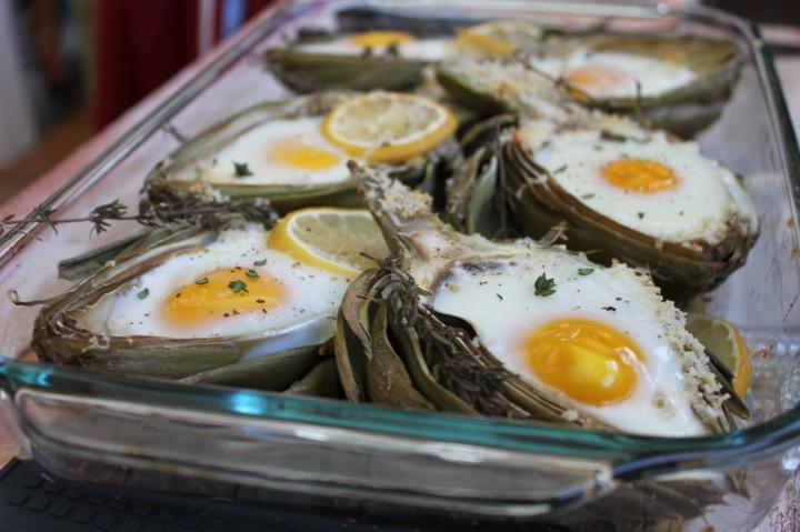 Artichoke Baked Eggs 1
