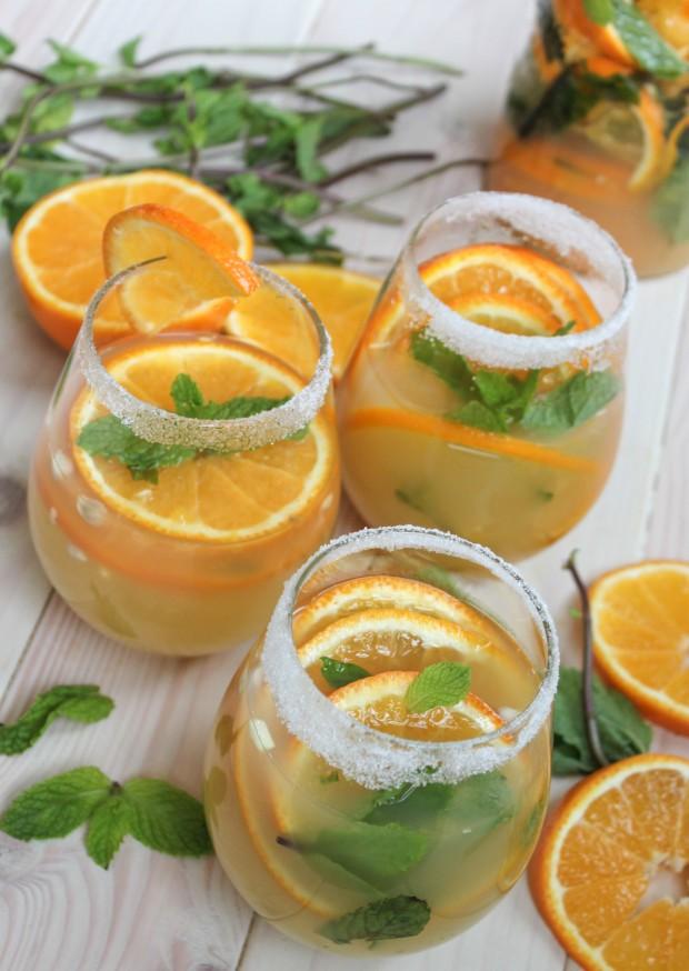 Tangerine Ginger Sake Sangria - Jerry James Stone
