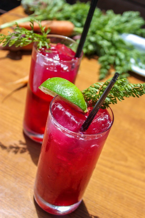 Beet Carrot Tequila Cocktail