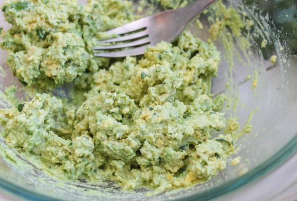 Guacamole Deviled Egg Mixture