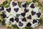 Valentine's Day Pizza with Beets and Kale Pesto