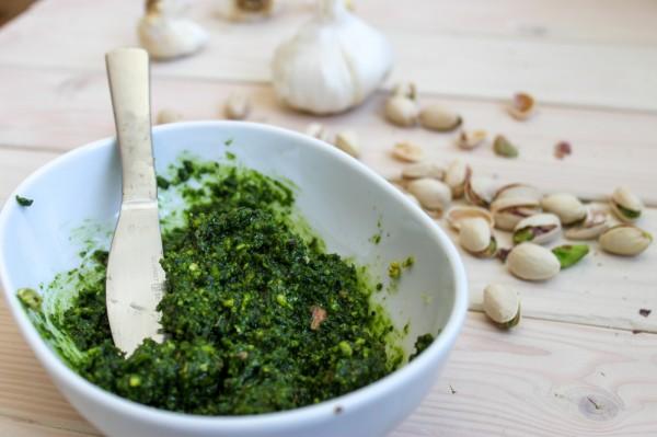 Raw Pistachio and Kale Pesto