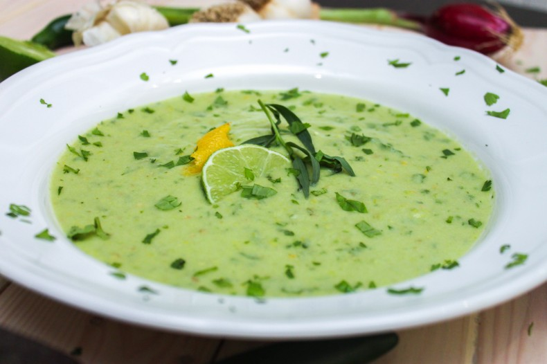 Avocado Gazpacho Close Up