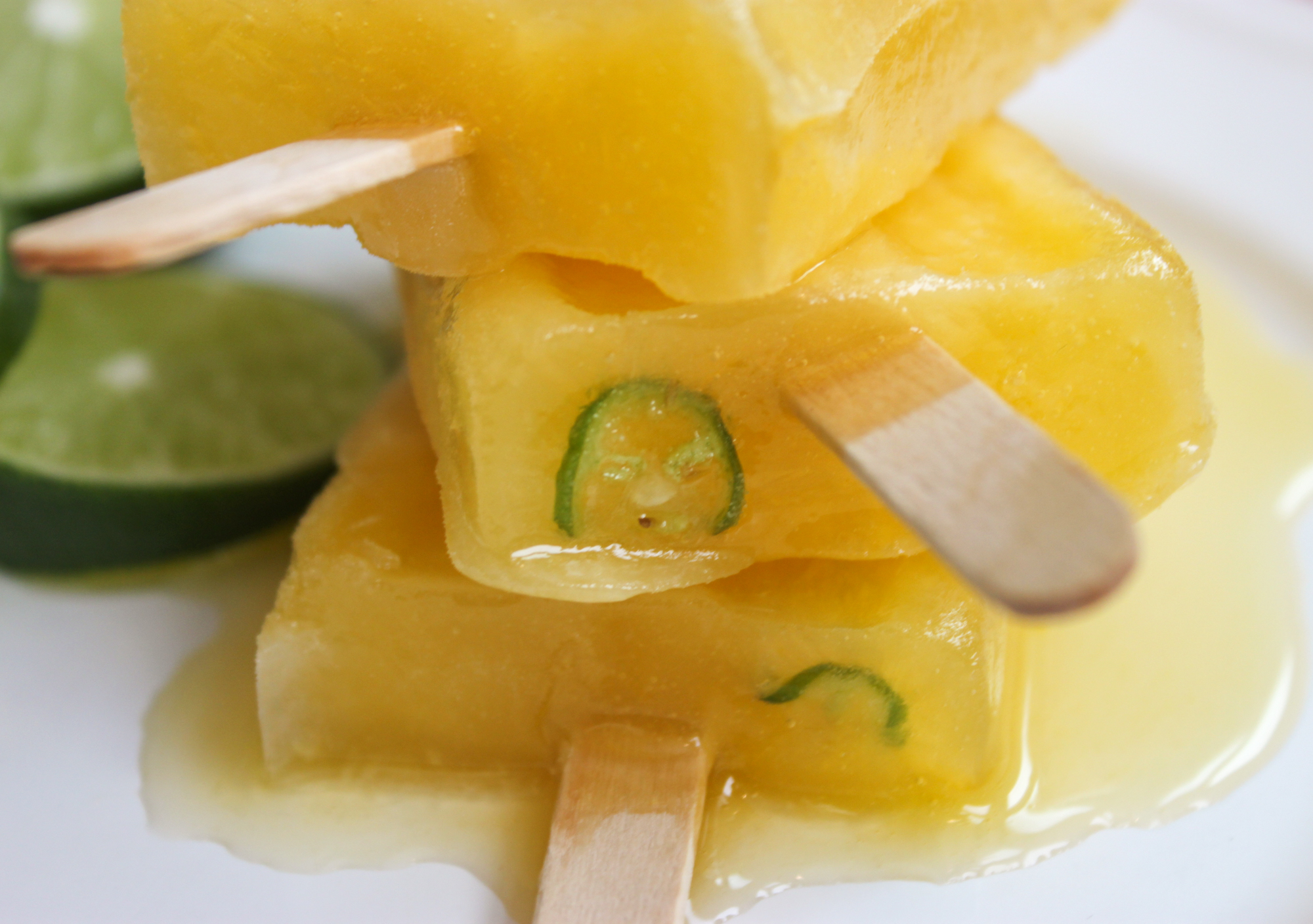 Mango Fruit and Tequila Popsicles with Serrano - Jerry James Stone
