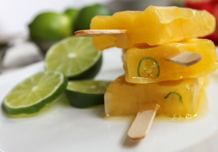Boozy Mango Popsicle with Lime, Serrano Main