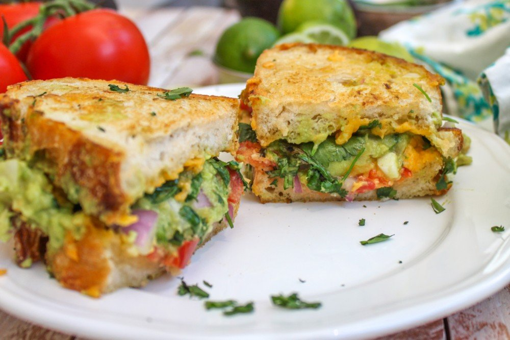 Guacamole Grilled Cheese - Jerry James Stone