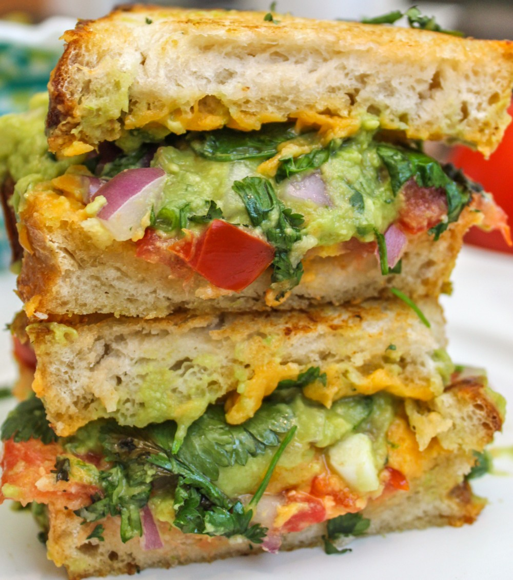 Guacamole Grilled Cheese Sandwich - Cooking Stoned