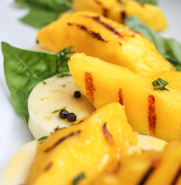 Mango Salad with Basil Mozzarella Full