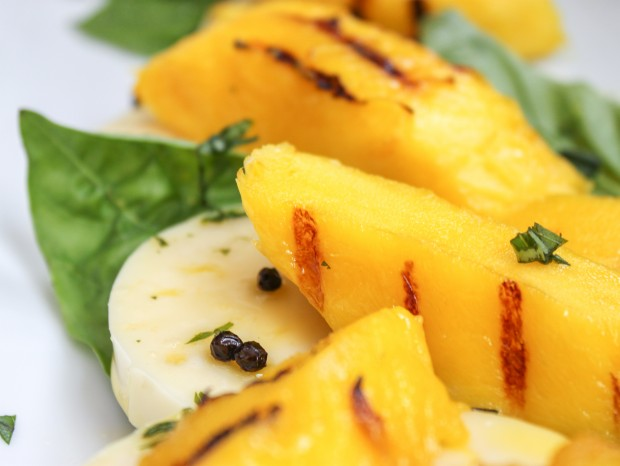 Mango Salad with Basil Mozzarella Main