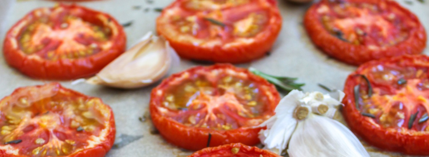 Roasted Tomatoes with Garlic and Rosemary - Jerry James Stone