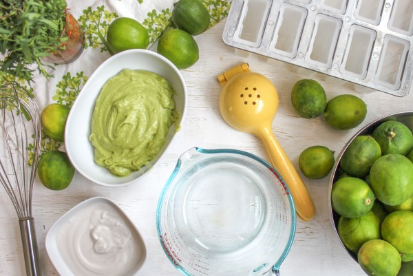 Avocado Popsicle Makings