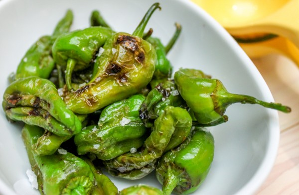 Grilled Peppers with Lime & Salt