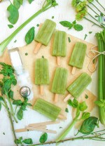 Sweet and Salty Celery Popsicles