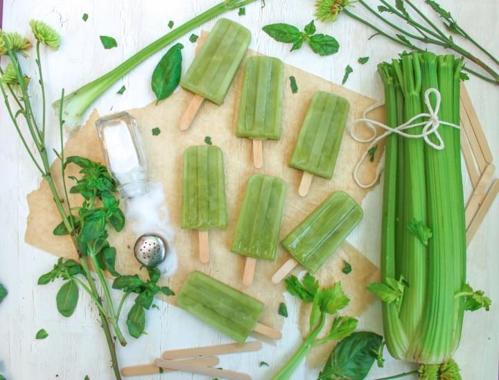 Salt Celery Popsicles
