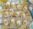 Deviled Eggs Stuffed with Hummus