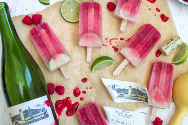 Raspberry Lime Sangria Popsicle