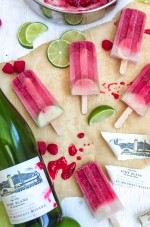 Raspberry Lime Wine Popsicle