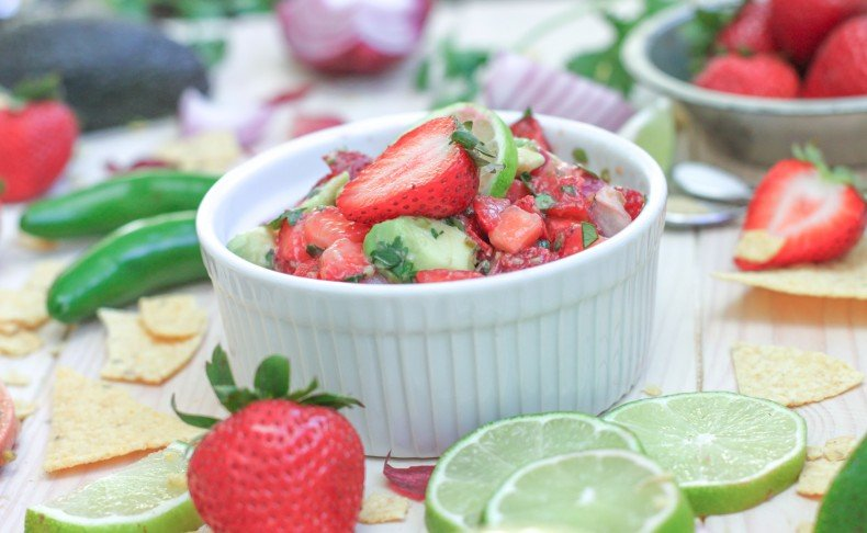 Sweet Strawberry Avocado Salsa