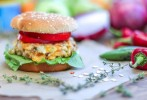 Apple & Cheddar Veggie Burger