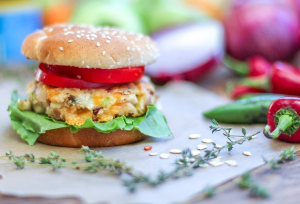 Apple & Cheddar Burger