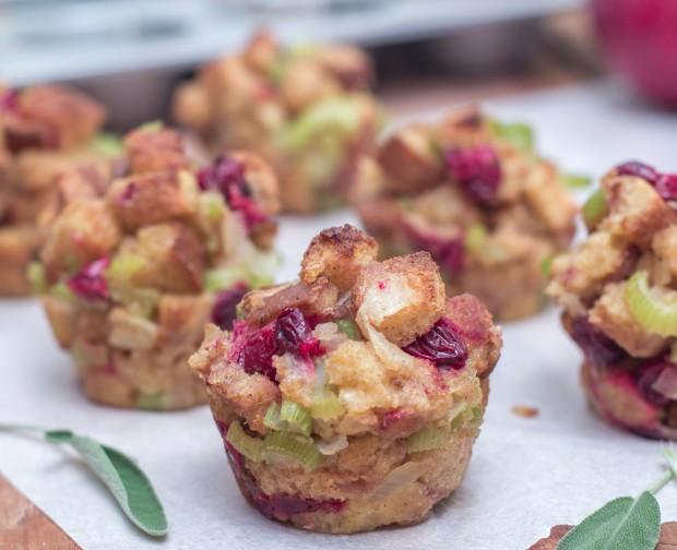 Cranberry & Sage Stuffing Muffins
