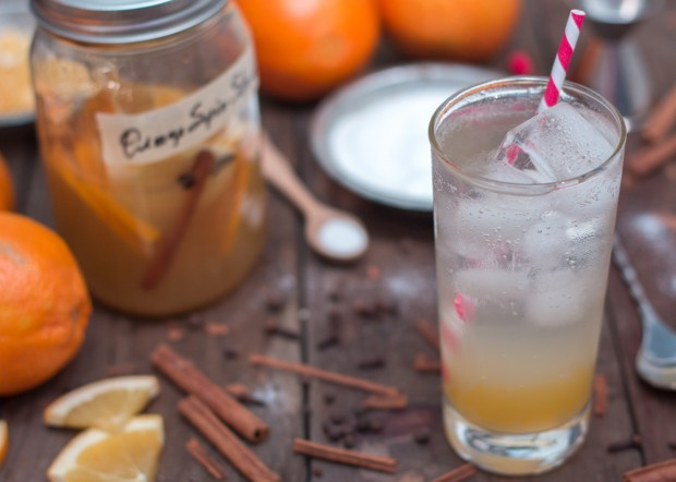 Orange Cinnamon Drinking Vinegar
