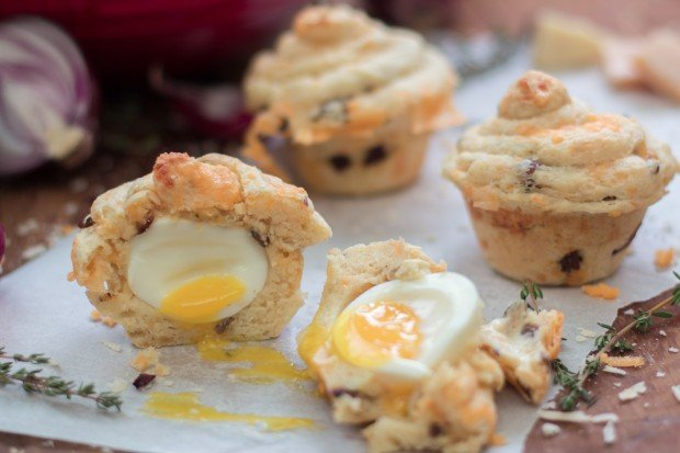 Egg Baked Inside a Muffin-2