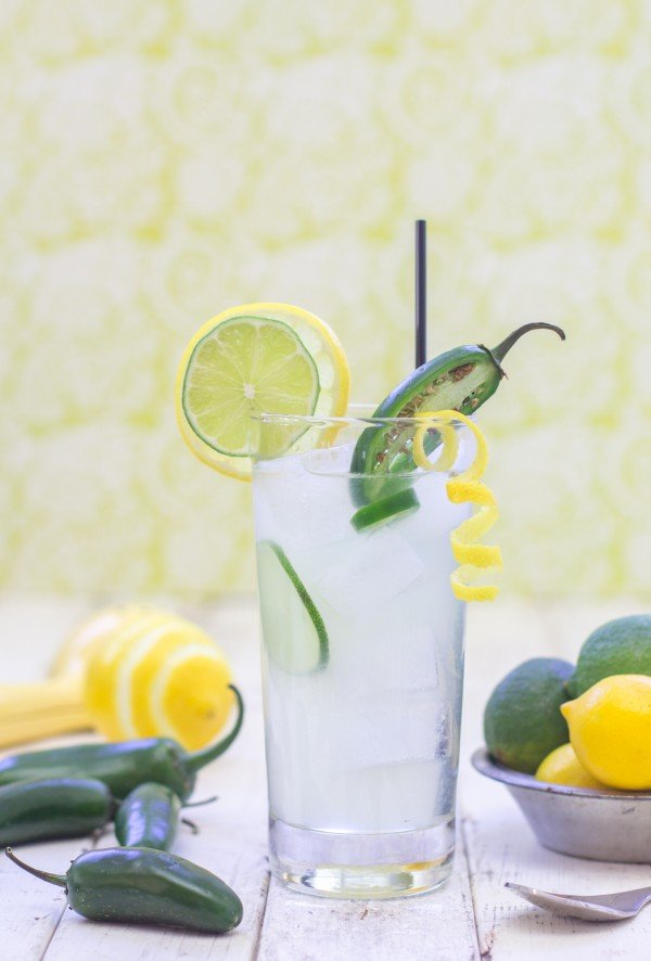 Jalapeno Lemonade with Garnish