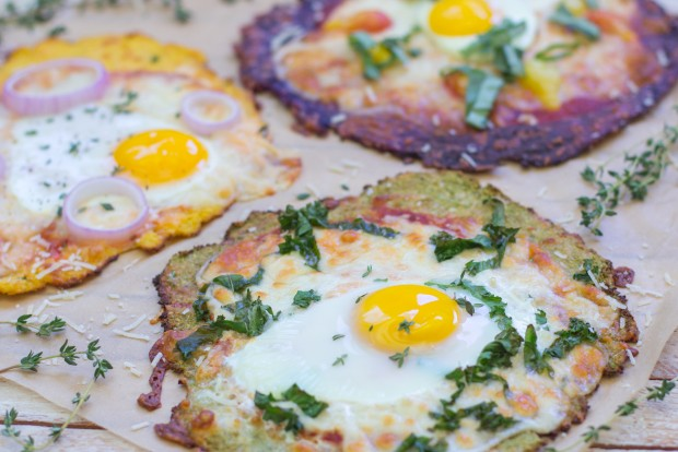 Breakfast Pizza with Gluten Free Cauliflower Crust