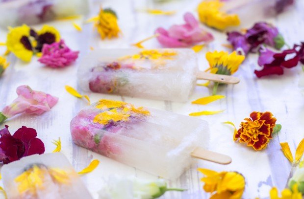 Champagne Flowers Popsicles