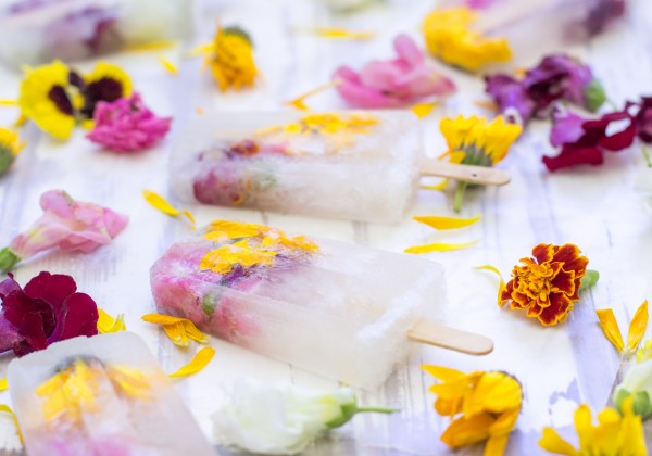 Champagne and Flowers Popsicles
