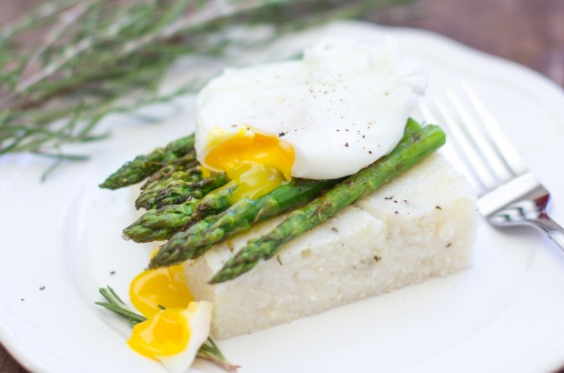 Grilled Asparagus Poached Egg