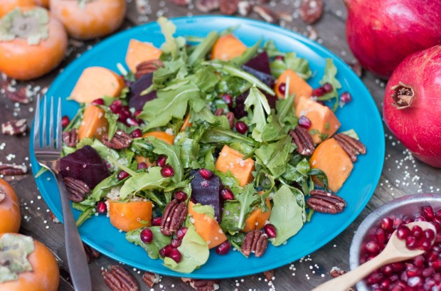 Persimmon, Pomegranate & Quinoa Salad