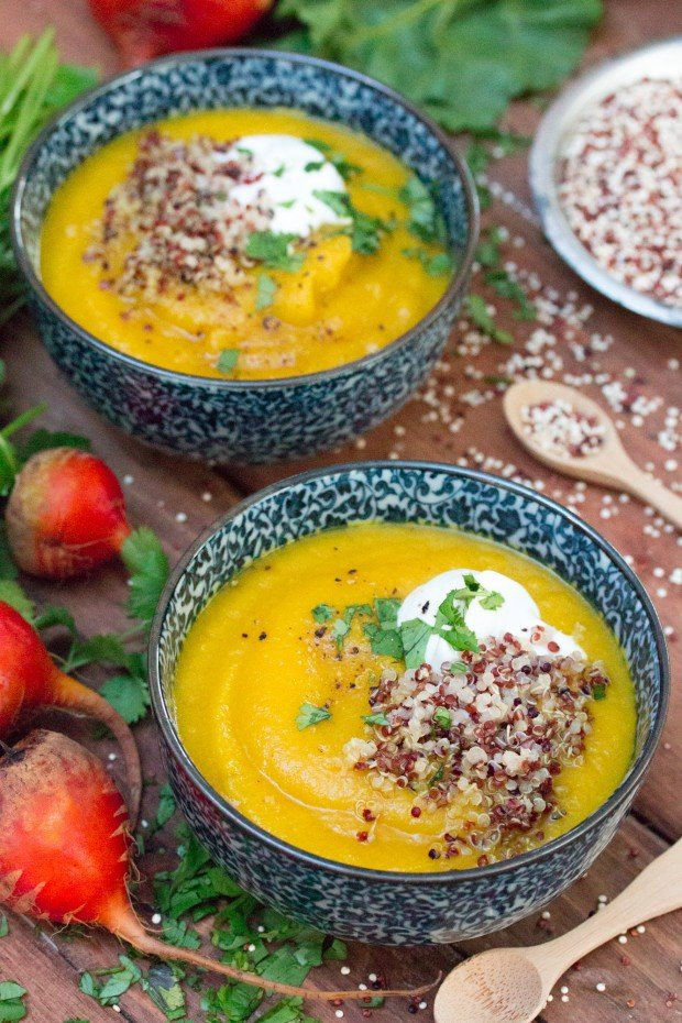Golden Beet & Apple Soup 1