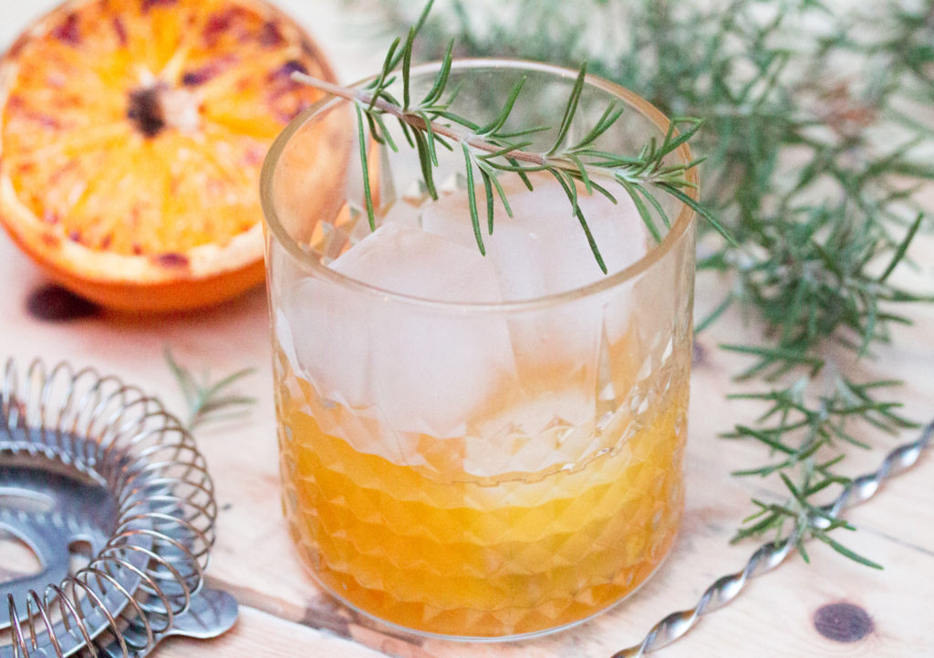 Roasted Orange Whiskey Cocktail