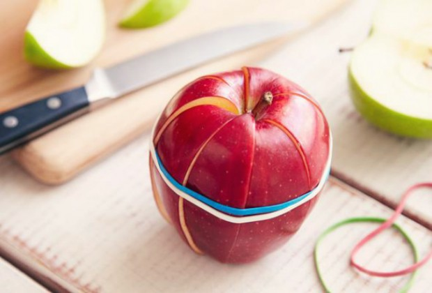 sliced apple lunch hack