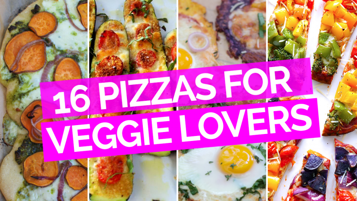 16 Pizzas for Veggie Lovers