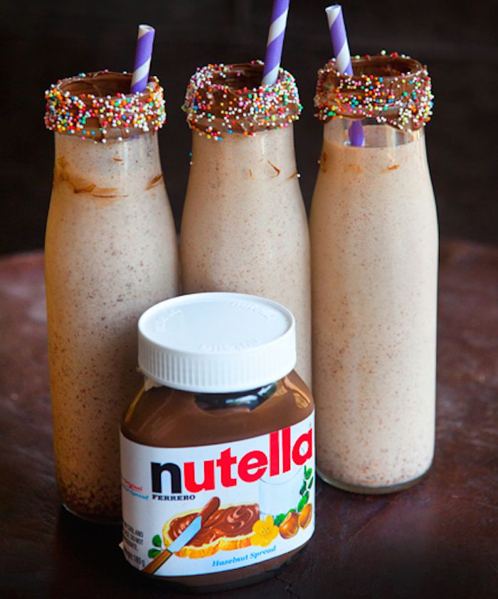 Nutella Chocolate Milkshakes