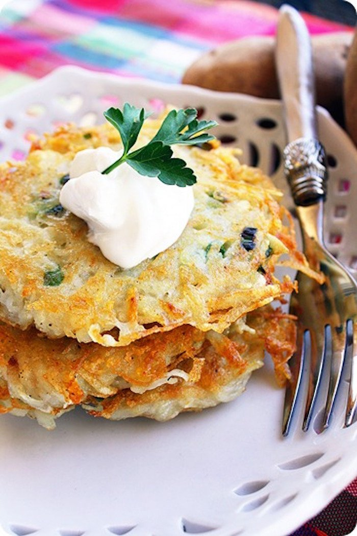 Scallion and Parmesan Potato Pancakes[4]