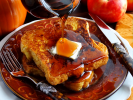 Pumpkin Spice French Toast with Bourbon Cider Maple Syrup